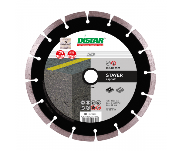 Алмазный диск для УШМ Distar Stayer 1A1RSS/C3-H 230x2,6/1,8x10x22,23-16